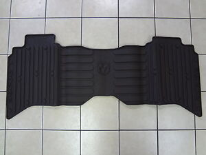 09 18 Dodge Ram 1500 2500 3500 4500 5500 Slush Mats Brown Crew Cab Rear Mopar