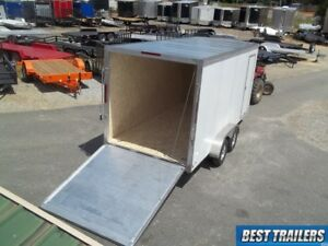 Aluma Ae716ta Es Cargo Enclosed Aluminum Trailer 7x16 Motorcycle W Extra High