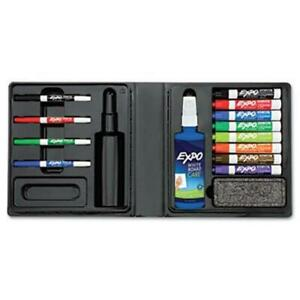 Expo 80054 Low odor Dry Erase Marker Eraser Cleaner Chisel fine 12 set