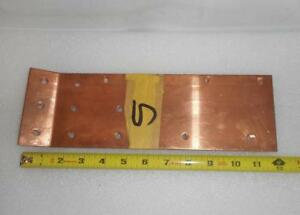Lot Of 5 Electrical Copper Bus Bar 12 L X 3 3 4 W X 1 8 Thick