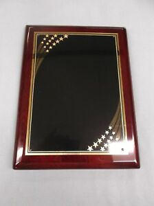 Trophy Parts 8x10 1 2 Plaque High Gloss Solid Wood Mahogony Laser Plate P4451