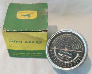 1950s John Deere 80 820 830 840 Tractor Tachometer Speed Hour Ar1317r W Box Old