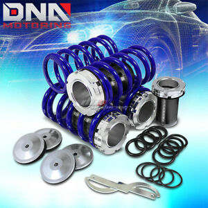 Front Rear Aluminum 1 4 Scaled Coilover Spring Kit For 95 99 Maxima A32 Blue