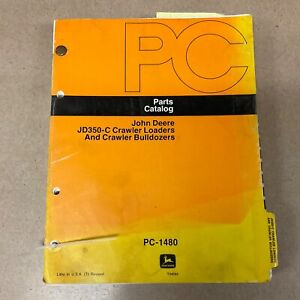 John Deere 350c Parts Manual Catalog Book Crawler Bulldozer Loader Pc 1480 Guide
