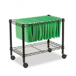 Alera Fw601424bl Single tier Rolling File Cart 24w X 14d X 21h Black