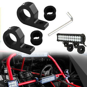 2x 1 1 25 Mount Bracket Tube Clamps For Led Light Bar Off Road Bull Hid Atv