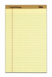 Tops The Legal Pad 71572 Notepad 50 Sheet Legal Ruled Legal 8 5 X 14