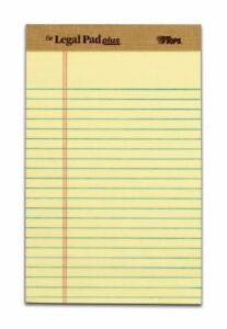 Tops The Legal Pad 71501 Notepad 50 Sheet Legal Ruled 8 X 5 12 Pack