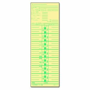 Tops Business Forms 1253 Time Card For Acroprint And Lathem Weekly 3 1 2 X