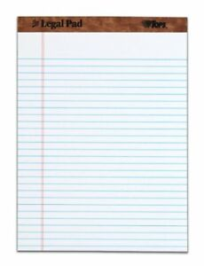 Tops The Legal Pad Ruled Top Perforated 50 Sheet 16 Lb 8 50 X 11 75 12