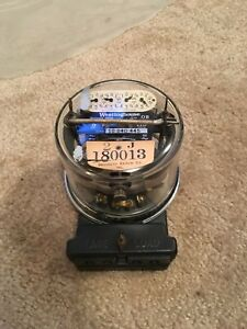 Vintage Antique Watthour Meter Westinghouse Oc 5 Amp 15 Amp
