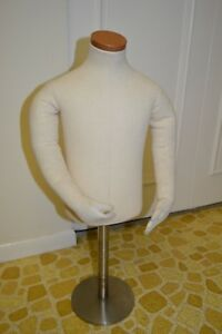 Toddler Child Half Form Cloth Mannequin Counter Hanging Display Euc