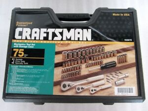 Craftsman 75 Piece Mechanics Tool Socket Set With Case 33675 Made In Usa