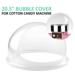 Clear Cotton Candy Fairy Floss Machine Bubble Cover For 20 5 Diameter Bowl