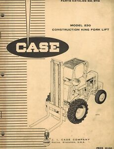 Case Vintage 530 Construction King Forklift Parts Manual B918