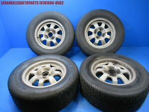 77 82 Porsche 924 Original 14 Inch Wheel Rims W Tires Set 14x6 477601031b