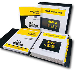 Service Parts Operators Manual Set For John Deere 450c Crawler Loader