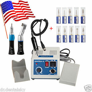 Usa Dental Lab Marathon Micro Motor 35krpm Speed 2 Slow Handpieces 10burs Drill