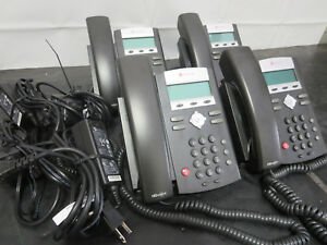 Lot Of 4 Polycom Soundpoint Ip 335 Ip Phones Sps 12a 015 Adapters Last Chance