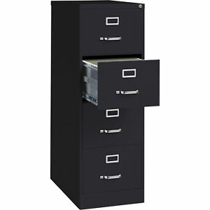 Hirsh Industries 4 drawer Legal File Cabinet Black 18inwx26 1 2indx52inh 16702