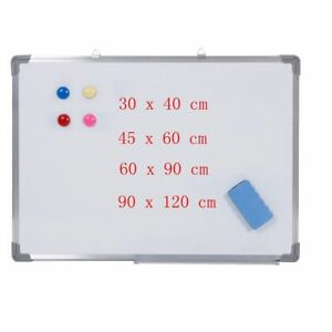 Magnetic Writing White Board Side Dry Eraser Board For Office Home Student Learn