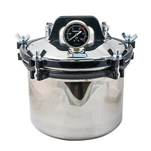 Professional 8l Steam Autoclave Sterilizer Tattoo Dental Lab Equipment