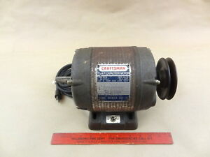 Craftsman 1 2 Hp Ball Bearing Reversing Motor Adjustable Pulley Lathe Machinist