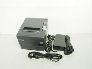 Epson Tm t88v Thermal Usb Network Printer W Power Supply And Usb Cable Tested