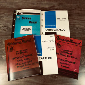 International Farmall 560 Diesel Tractor Service Operator Parts Manual Set