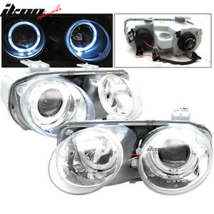 Fits 94 97 Acura Integra Halo Projector Headlights Chrome