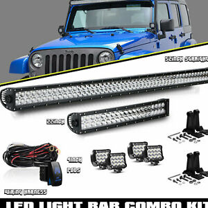 52inch 700w Led Light Bar 22in 4 Cree Pods Offroad Suv 4wd Atv Vs 52 42 20