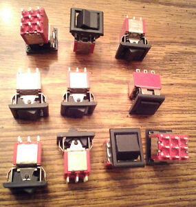 Lots Of 10 E switch 3003p1r6blkm1qeblk Rocker Switches Free Shipping