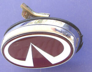 Infiniti Trunk Emblem Key Lock Cover Nissan Oem Rear Badge Red Chrome No Key