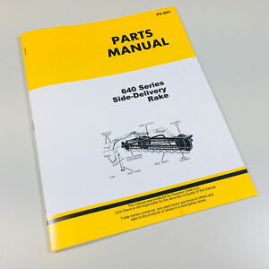 Parts Manual For John Deere 640 Side Delivery Rake Catalog Book Assembly