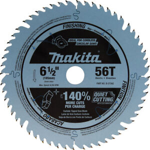 Makita 6 1 2 In 56t Carbide tipped Plunge Saw Blade B 57342 New