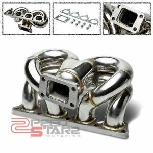For Civic crx del Sol D15 d16 T3 T3t4 Turbo Flange Stainless Ram Horn Manifold