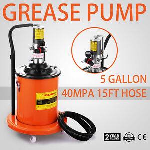5 Gallons Air Operated Grease Pump With High Pressure Booster Gun