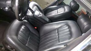 98 03 Jaguar Xj8 Xjr Complete Black Leather Seat Set Front And Rear 70k Car