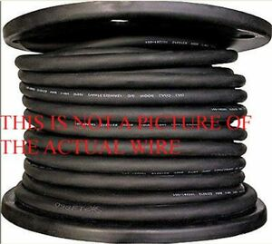 New 100 6 4 Soow So Soo Black Rubber Cord Extension Wire