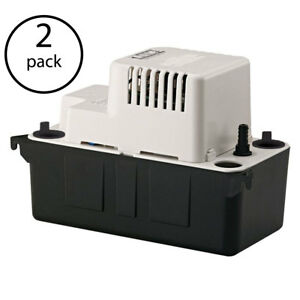 Little Giant Vcma 20uls 1 30 Hp 1 2 Abs Gallon Condensate Removal Pump 2 Pack
