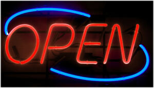 Neon Open Sign Light Bright Big Size Restaurant Store Business Liquor Commercial