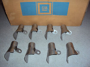 Gm Nos Spark Plug Wire Heat Shields Big Block Chevy 396 402 427 454 Engine Motor