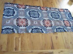 Coverlet Half Piece Blue And Red Lindsay Woolsey 1800s