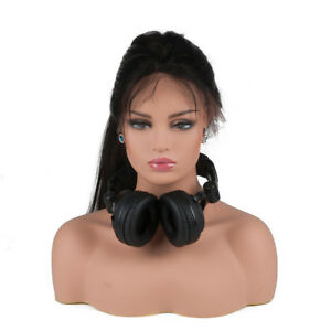 Top Quality Fiberglass Mannequin Female Head Bust For Wig Jewelry Hat Display