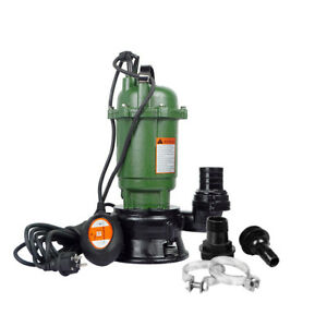 0 75hp Sewage Pump 20m3 h Head 12m 220v Cast Iron Submersible Sump With Float