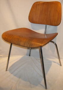Genuine Vintage Herman Miller Eames Oak Plywood Chair Original Finish