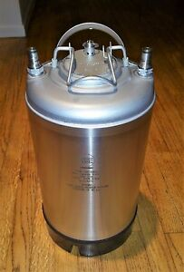 Nsf 29748ps 3 Gallon Ball Lock Keg Stainless Steel New In Box Never Used 2 6