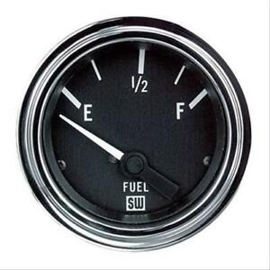Stewart Warner Deluxe Electrical Fuel Level Gauge 2 1 16 Dia Black Face 82303