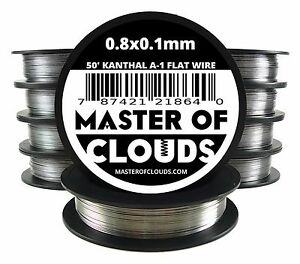 Lot Of 10 X 50 Ft 0 8 X 0 1 Mm Flat Ribbon Kanthal A 1 Wire Spool A1 50 Roll