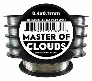Lot Of 10 X 50 Ft 0 4 X 0 1 Mm Flat Ribbon Kanthal A 1 Wire Spool A1 50 Roll